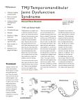 TMJ/Temporomandibular Joint Dysfunction Syndrome