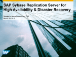 SAP Sybase Replication Server for High Availability