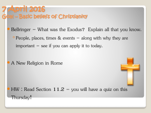The Beliefs of Christianity PowerPoint Notes