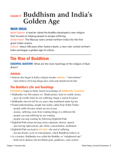 Lesson 3 Buddhism and India`s Golden Age
