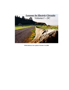 """Lessons In Electric Circuits, Volume I -"