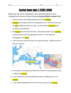 Ancient Rome Quiz 2 STUDY GUIDE