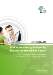 Risk assessment guidelines for diseases transmitted on