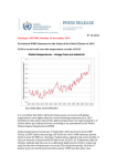 Provisional WMO Statement on the Status of the Global Climate in