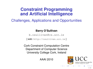 Constraint Programming and Artificial Intelligence