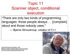 Topic 11 Scanner object, conditional execution