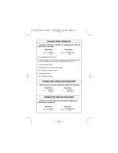 Voltage Drop Formula Sheet