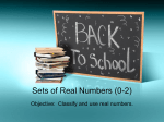 Sets of Real Numbers (0-2)