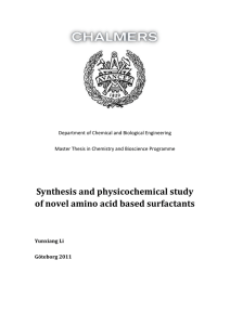 Synthesis and physicochemical study of novel amino acid based