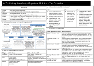 Unit 4 a – The Crusades