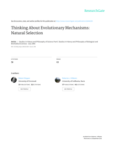 Thinking About Evolutionary Mechanisms: Natural Selection