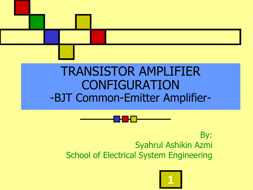 Bjt Common Emitter Amplifier Voltage Divider Bias Circuit Of