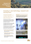 Investing in New Technology, research and development [MS Word