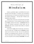 Basic Beliefs of Hinduism