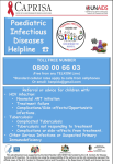 Paediatric Infectious Diseases Helpline