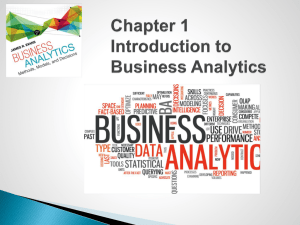 Chapter 1 Introduction to Business Analytics