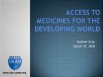 PowerPoint Presentation - Universities Allied for Essential Medicines