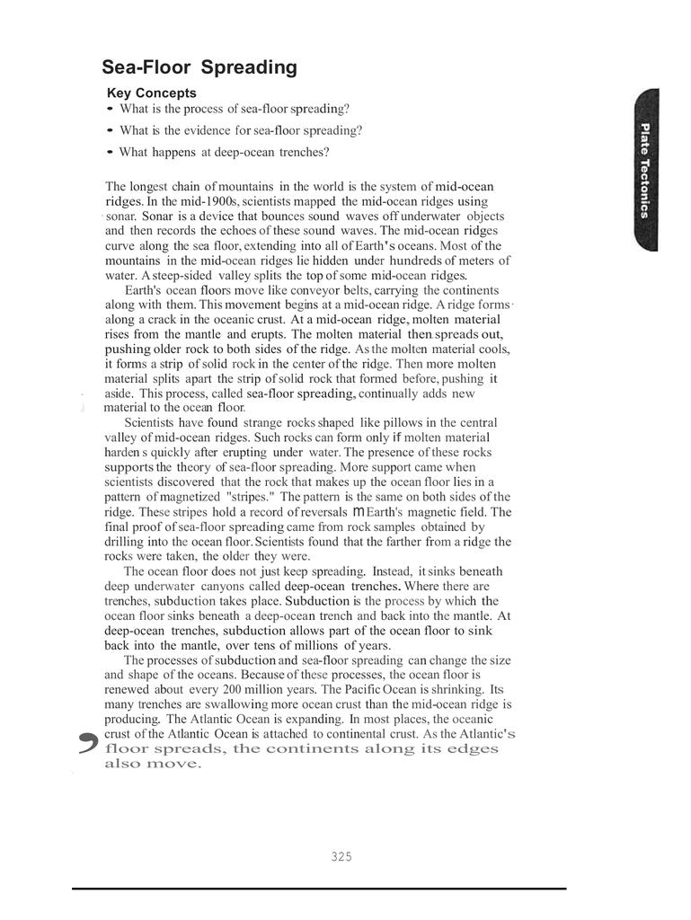 Modeling Seafloor Spreading Worksheet Answers Nice Houzz