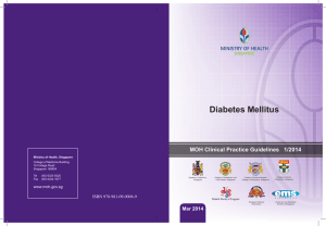Diabetes Mellitus - National Medical Research Council