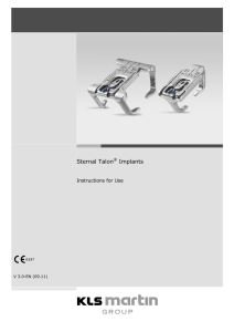 Sternal Talon® Implants