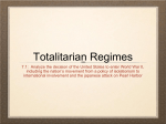 7.1 Totalitarian Dictators