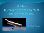 Hubble Telescope`s top ten greatest space photographs.