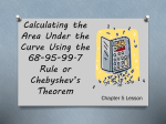 Calculating the Area Under the Curve Using the 68-95