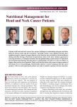 Nutritional Management for Head and Neck Cancer Patients