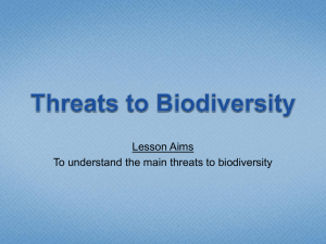 Threats to Biodiversity - School