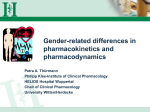 Gender Related Differences in Pharmacokinetics and