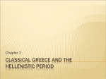 Classical Greece and the Hellenistic Period