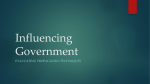 Influencing Government PPT