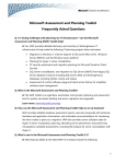 Microsoft Assessment and Planning Toolkit Frequently Asked