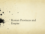 Empire acquisition and provinces