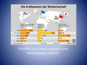 Economics in a Foreign Language Course