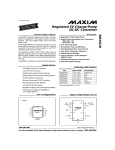 MAX619 Regulated 5V Charge-Pump DC