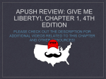 APUSH Review: Give Me Liberty!, Chapter 1, 4th Edition