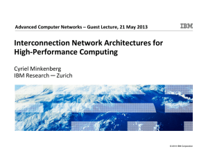 Interconnection Network Architectures for High