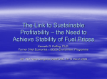 The Link to Environmentally Sustainability – Sustainable Fuel