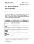 Your Health Care Team - James Cancer Hospital