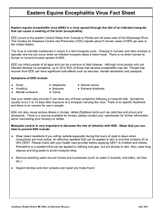 Eastern Equine Encephalitis Virus Fact Sheet