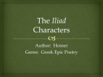 Role in the Iliad - Crestwood Local Schools