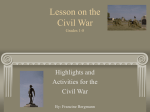 Lesson on the Civil War