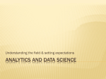 Analytics and Data Science