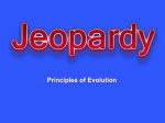 ch 10 Jeopardy Review Evolution
