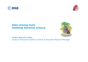 Title Data-mining tools enabling Herschel science