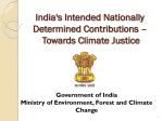 Climate Goals for India - Ministry of Environment and Forests