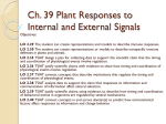 Ch. 39 Plant Responses to Internal and External Signals notes