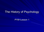 The Development of Psychology