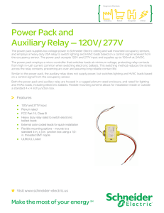 Power Pack and Auxiliary Relay — 120V/ 277V